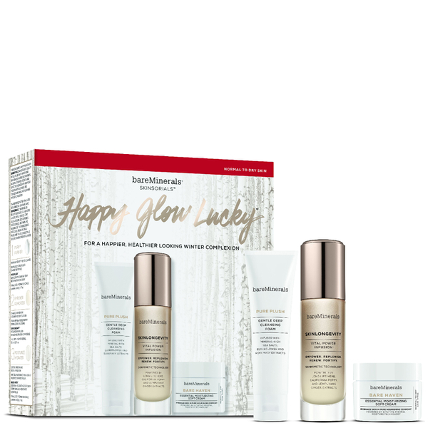 bareMinerals Collection Teint Happy Glow Lucky – Peaux Normales à Sèches