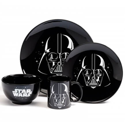 Star Wars Logo 4 Piece Ceramic Dinner Set
