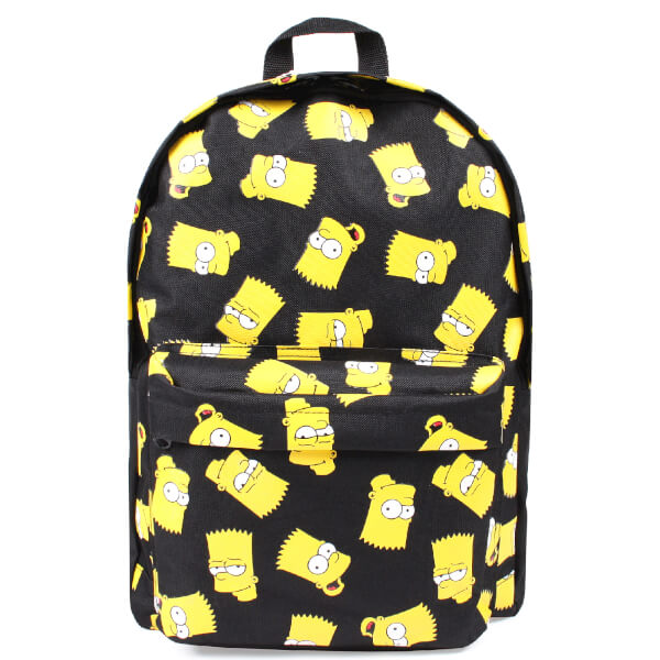 The Simpsons Men's Bart Face Backpack - Black