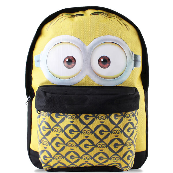 Minions Men's Dave Face Backpack - Yellow