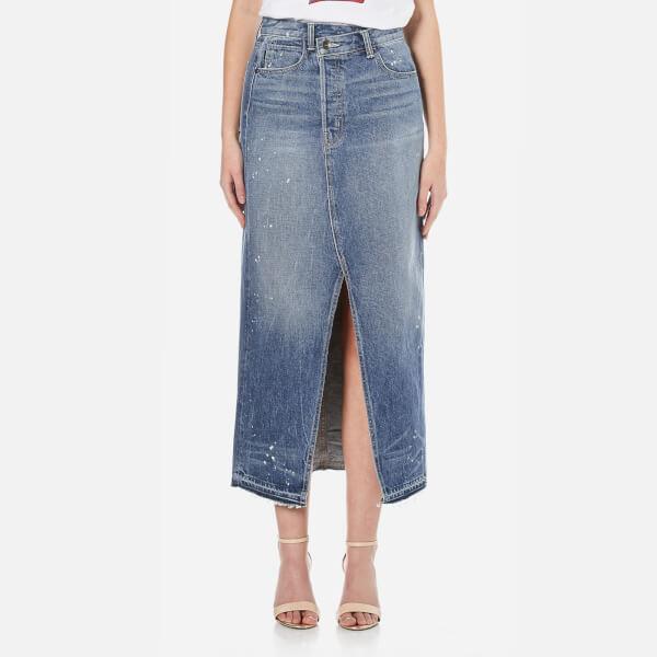 Helmut Lang Women's Remark Skirt - Light Blue