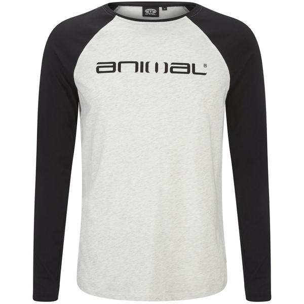 T-Shirt Action Manches Longues Raglan Animal -Gris Clair