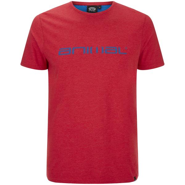 Animal Men's Marrly T-Shirt - Crimson Red Marl