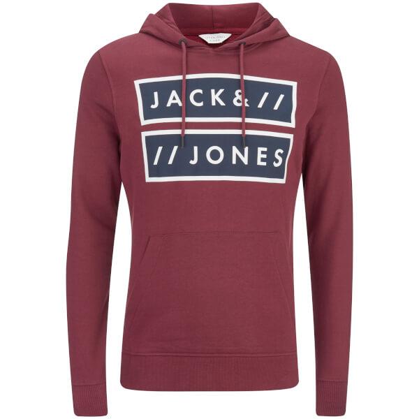 Jack & Jones Men's Core Submit Hoody - Burgundy