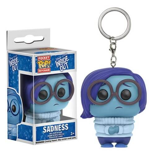Inside Out Sadness Pocket Pop! Key Chain