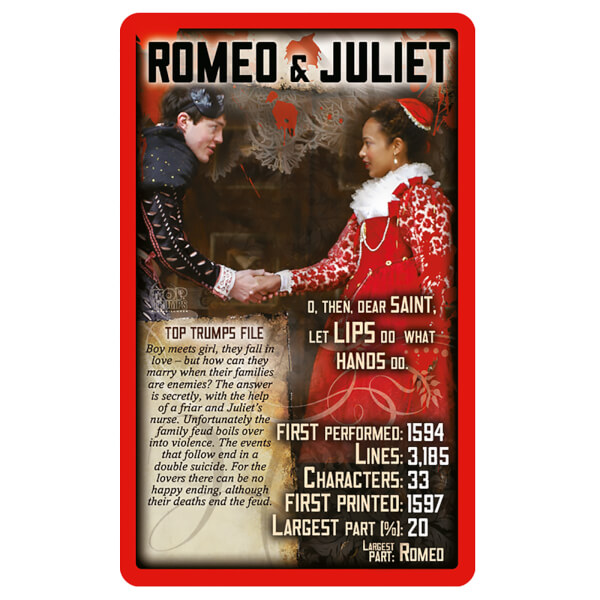 Top Trumps Shakespeare S Plays Iwoot