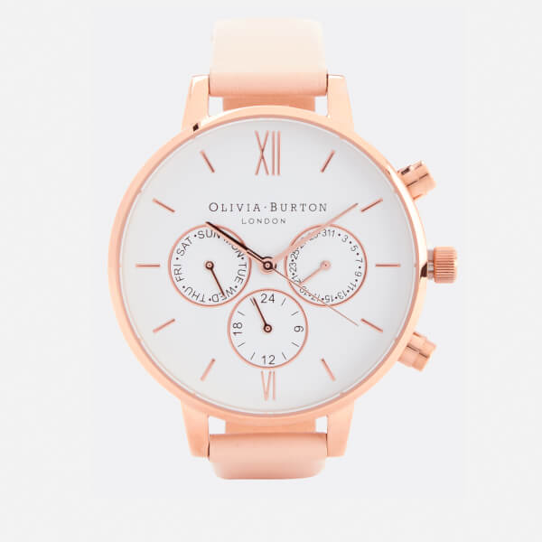 Olivia Burton Women's Chrono Detail Watch - Nude Peach & Rose Gold
