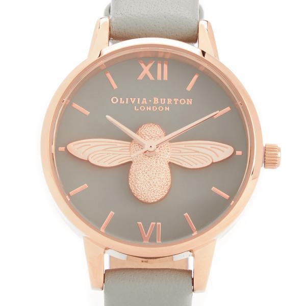 10fc2ba605382 Olivia Burton Women s Moulded Bee Midi Dial Watch - Grey Rose Gold  Image 4