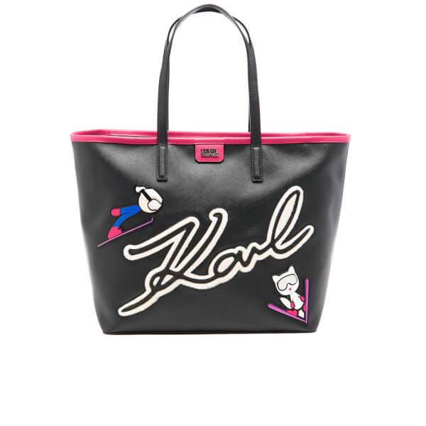 Karl Lagerfeld Women's Ski Holiday Shopper Bag - Black