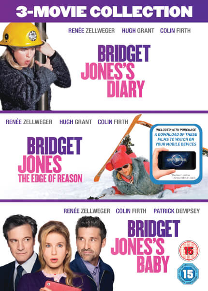 Bridget Jones's Diary/Bridget Jones: The Edge Of Reason/Bridget Jones's Baby Boxset (Includes Ultraviolet Copy)