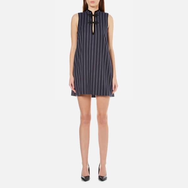 Ganni Women's Oakwood Stripe Dress - Total Eclipse