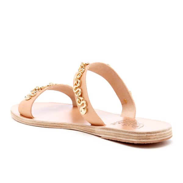 Ancient Greek Sandals Women's Poulia Hardware Double Strap Vachetta Leather Sandals - Natural - EU 36/UK 3 2KLpPBS