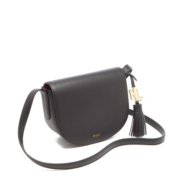 3d2779fbd3 Lauren Ralph Lauren Women s Dryden Caley Mini Saddle Bag - Black Crimson   Image 3