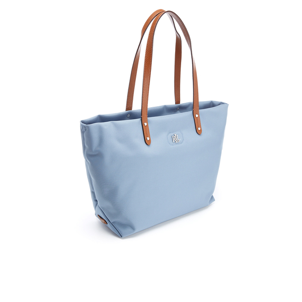 Lauren Ralph Lauren Women s Bainbridge Nylon Tote Bag - Blue Mist  Image 2 51b00512a2713