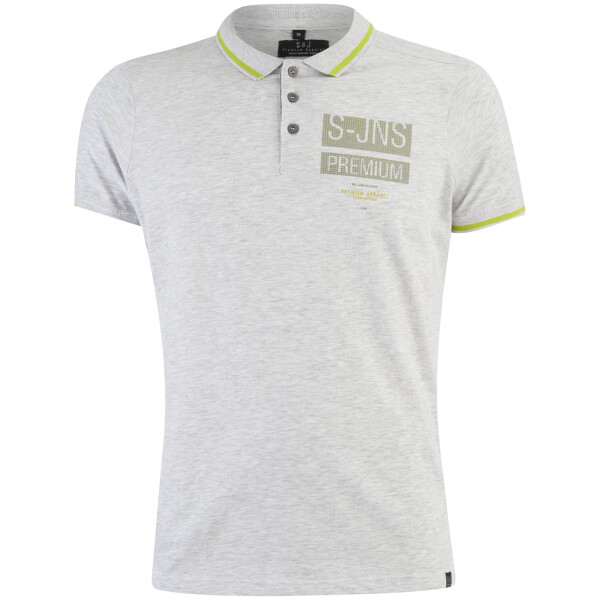 Smith & Jones Men's Albedo Polo Shirt - Light Grey Marl