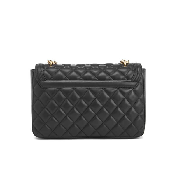 9ec7b3edb7b1 Love Moschino Women s Quilted Chain Tote Bag - Black  Image 6
