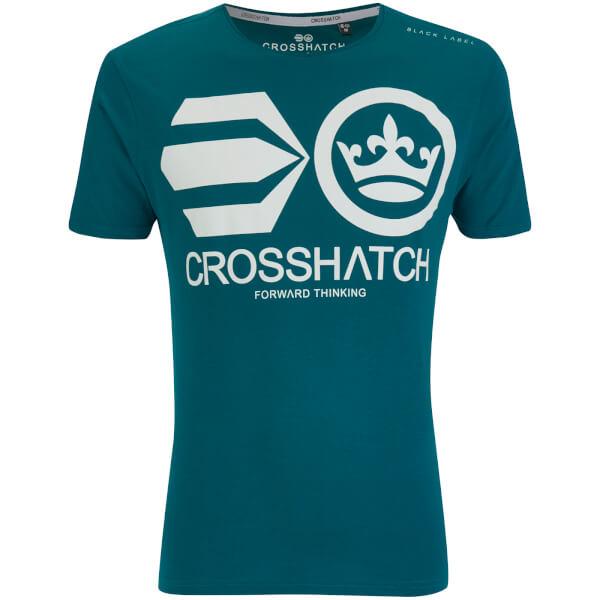 Crosshatch Men's Jomei T-Shirt - Deep Lake