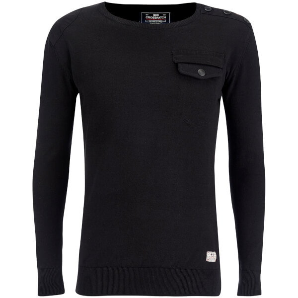 Crosshatch Men's Barrowell Jumper - Black