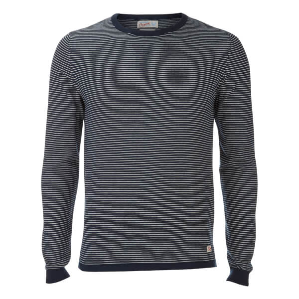 Pull Originals Léo Stripe Jack & Jones -Bleu Marine