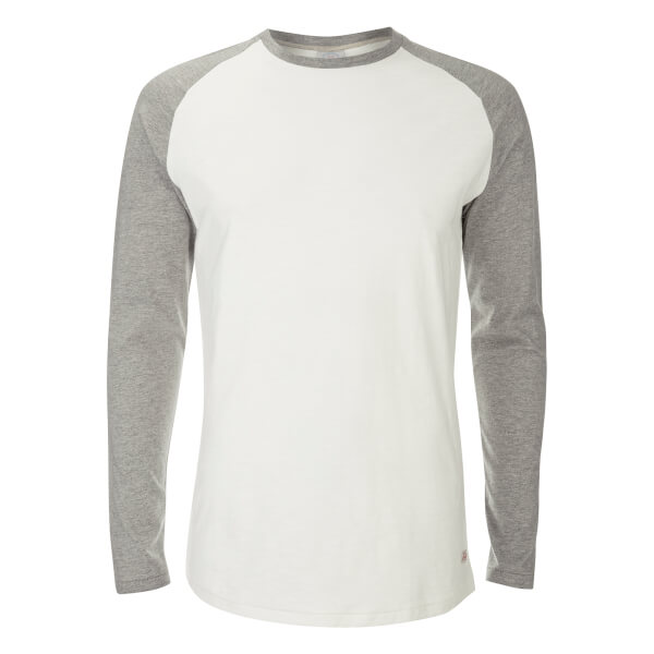 Jack & Jones Men's Originals Stan Raglan Long Sleeve Top - Cloud Dancer/LGM