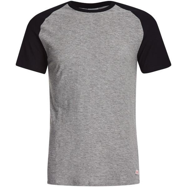 T-Shirt Homme Originals Stan Raglan Manches Courtes Jack & Jones -Gris/Noir