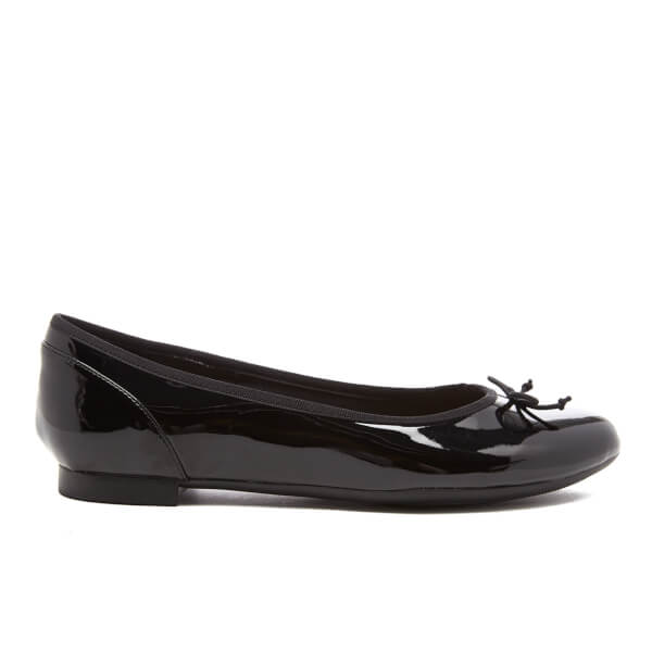 f9ed55f848ad Clarks Women s Couture Bloom Patent Ballet Flats - Black  Image 1