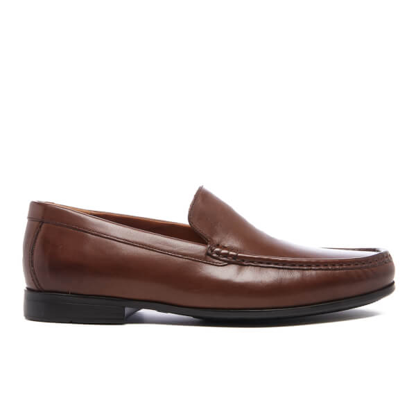 Clarks Men's Claude Plain Leather Loafers - Brown