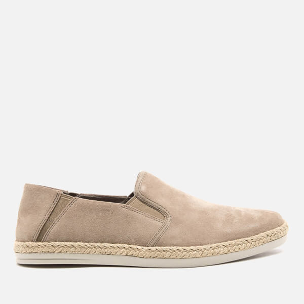 Clarks Men's Bota Step Suede Slip-On Trainers - Sand