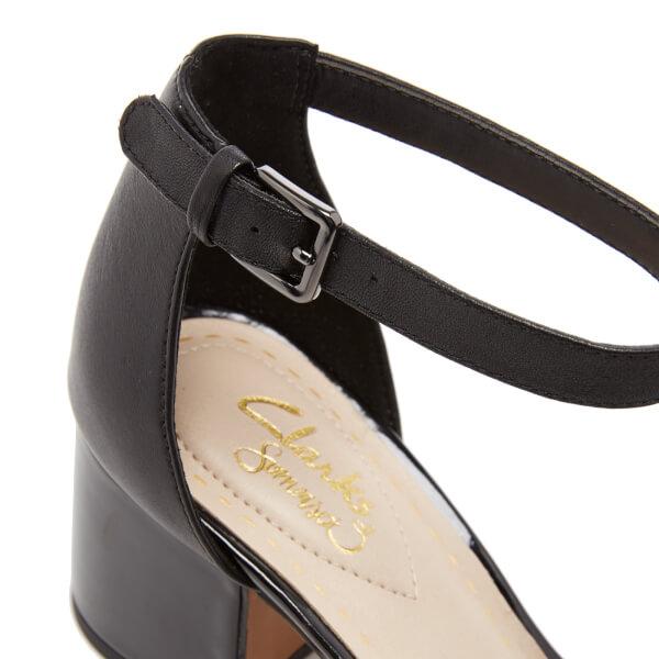 e7c88662bc2 Clarks Women s Barley Belle Leather T Bar Mid Heels - Black Combi  Image 5