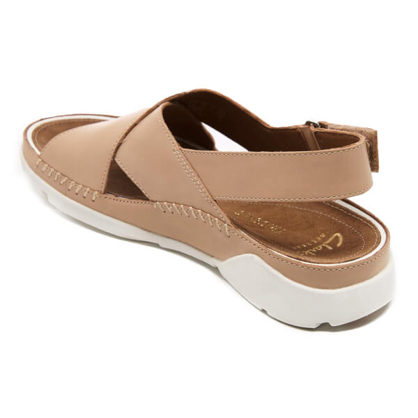 e1b96f8fc159 Clarks Women s Tri Alexia Leather Cross Front Sandals - Nude  Image 4