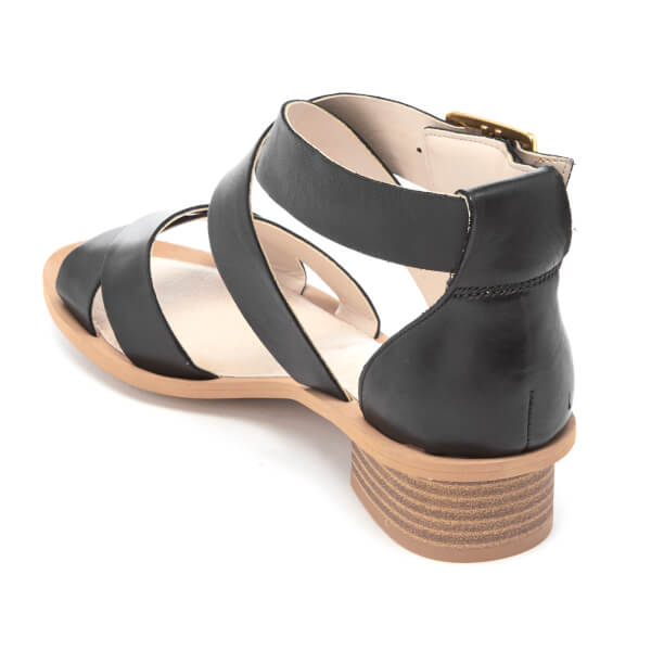 392b1db3bf9758 Clarks Women s Sandcastle Ray Leather Strappy Sandals - Black Womens ...