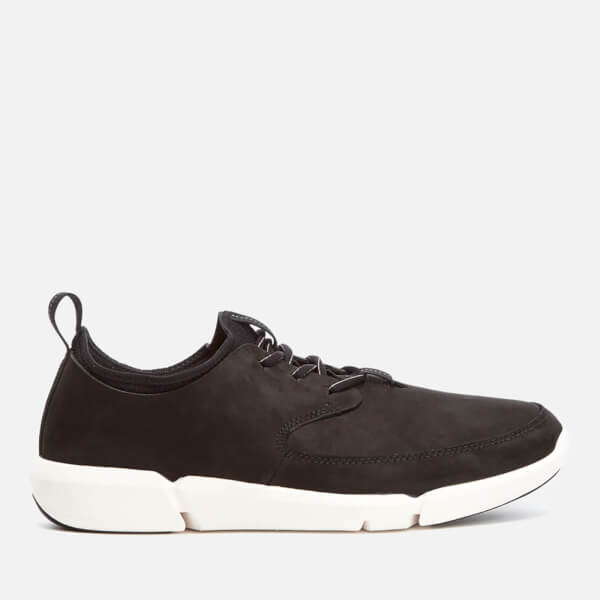 Clarks Men's Triflow Form Nubuck Runner Trainers - Black
