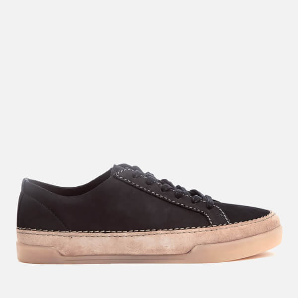 Clarks Women's Hidi Holly Leather Cupsole Trainers - Black