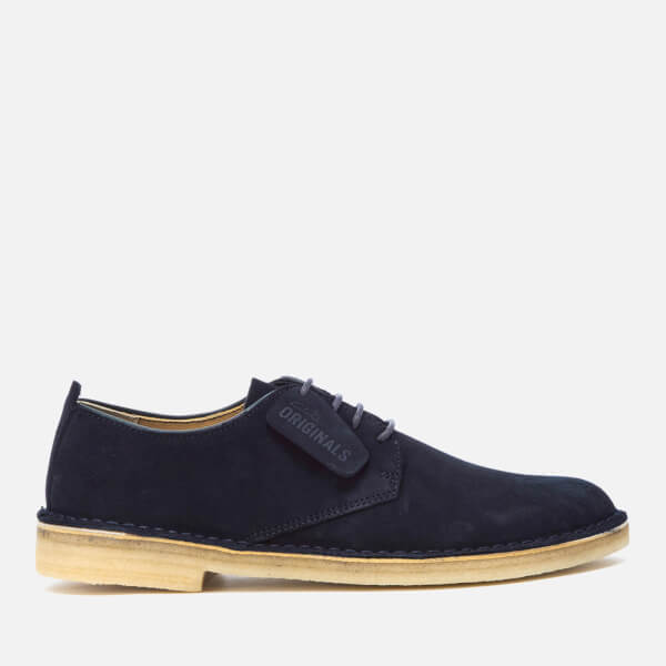 Clarks Originals Men's Desert London Derby Shoes - Midnight Suede: Image 1