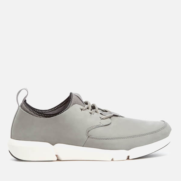 Clarks Men's Triflow Form Nubuck Runner Trainers - Grey
