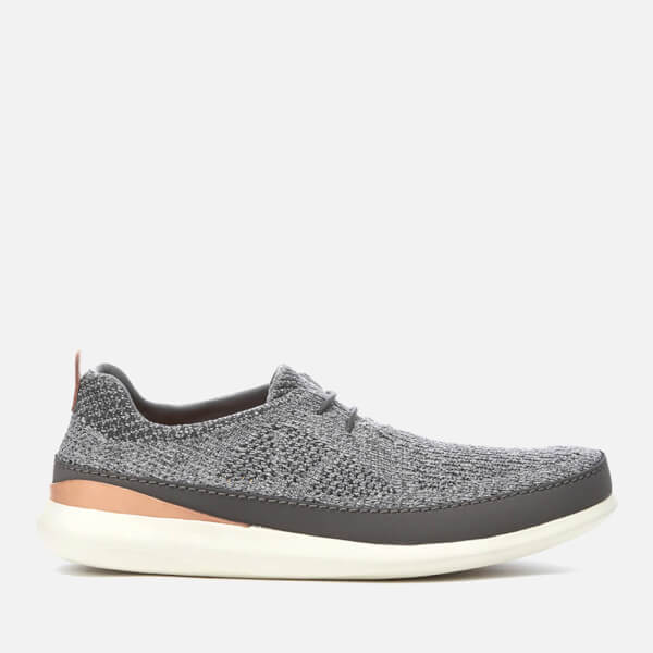 Clarks Men's Pitman Run Textile Runner Trainers - Grey: Image 1
