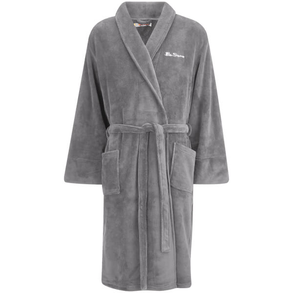 Ben Sherman Men\'s Fleece Robe - Charcoal Clothing   Zavvi