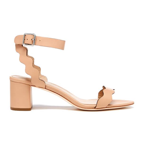 Loeffler Randall Women's Emi Scallop Strap Heeled Sandals - Wheat