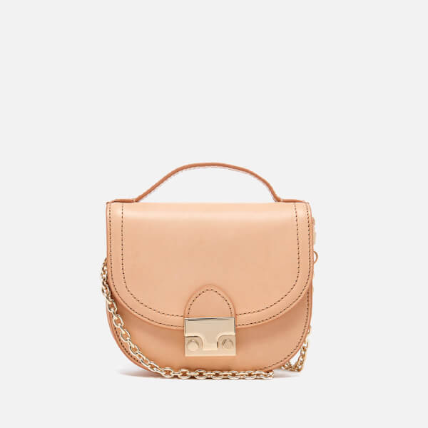 Loeffler Randall Women's Mini Cross Body Saddle Bag - Natural