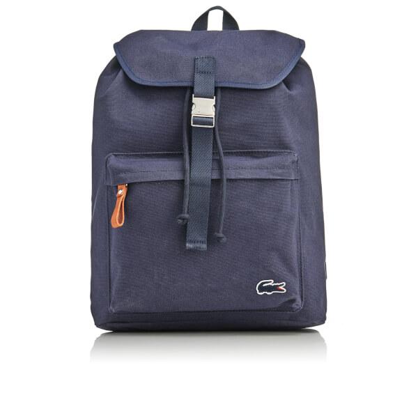 97616f61319 Lacoste Men's Flap Backpack - Navy: Image 1
