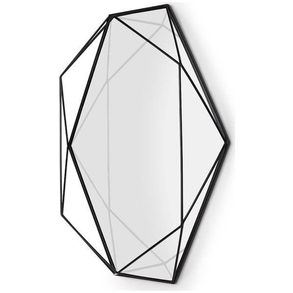 Umbra Prisma Geometric Mirror Black Iwoot