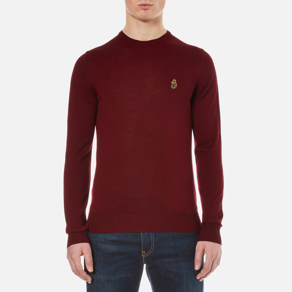 Luke 1977 Men's Gerard 3 Fine Knit Jumper - Lux Red