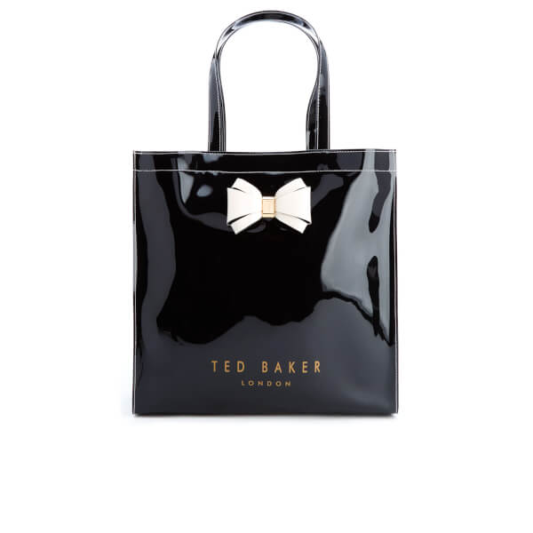 fe32bf32b1 Ted Baker Women s Alacon Colour Block Bow Large Icon Bag - Black  Image 1