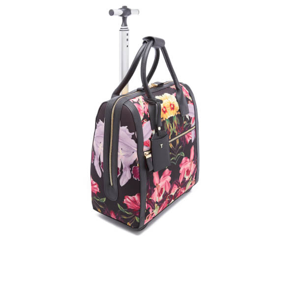 9b0b675bb Ted Baker Women s Donnie Lost Gardens Travel Bag - Black  Image 2