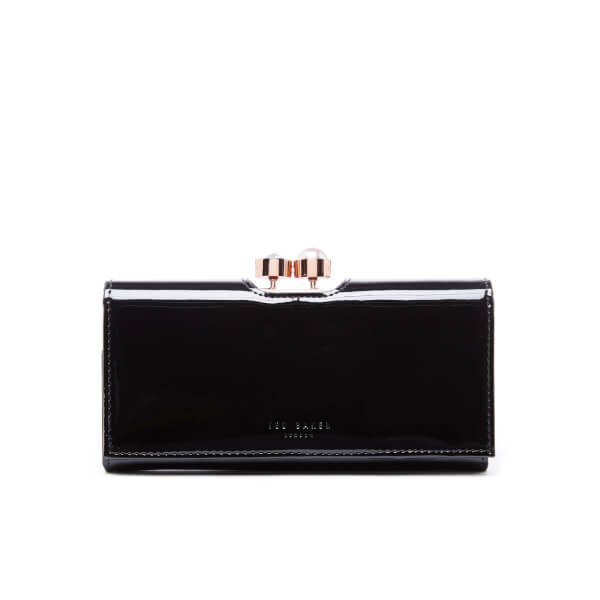 505c2f91ac6 Ted Baker Women's Cecilie Pearl Bobble Patent Matinee Purse - Black: Image 1