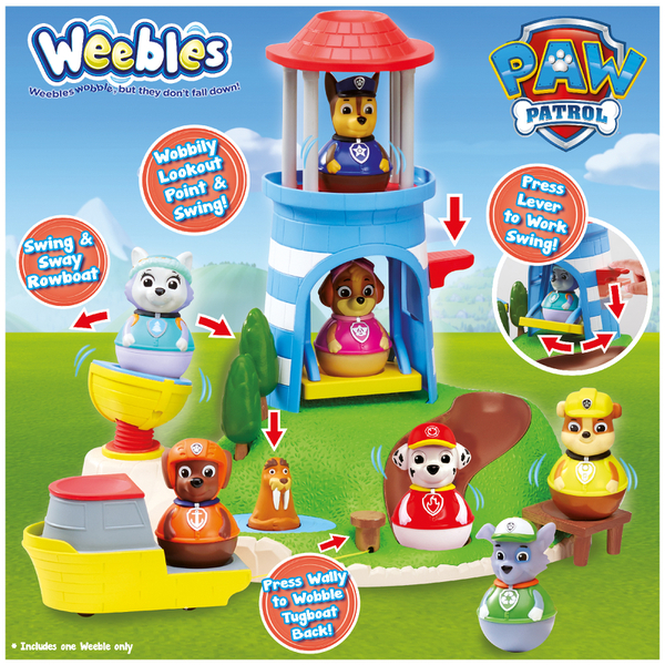 Paw Patrol Weebles Pull And Play Seal Island Playset Toys