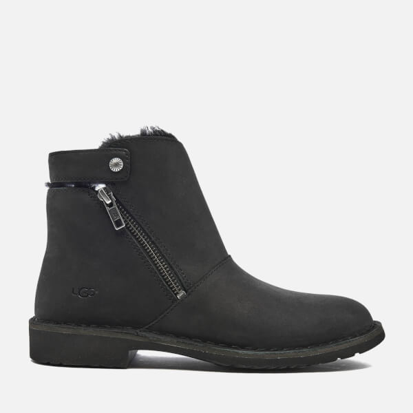 UGG Women's Kayel Leather Ankle Boots - Black Womens ...