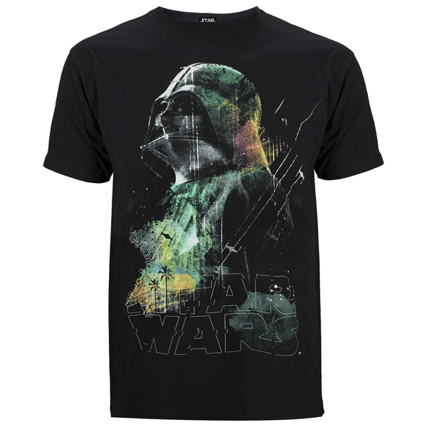 Star Wars: Rogue One Men's Rainbow Effect Darth Vadar T-Shirt - Black
