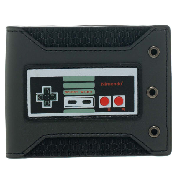 NES Controller Rubber Badge - Bi-fold Wallet
