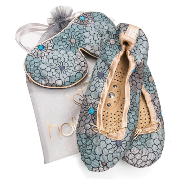 Holistic Silk Eye Mask Slipper Gift Set - Peacock (Various Sizes)